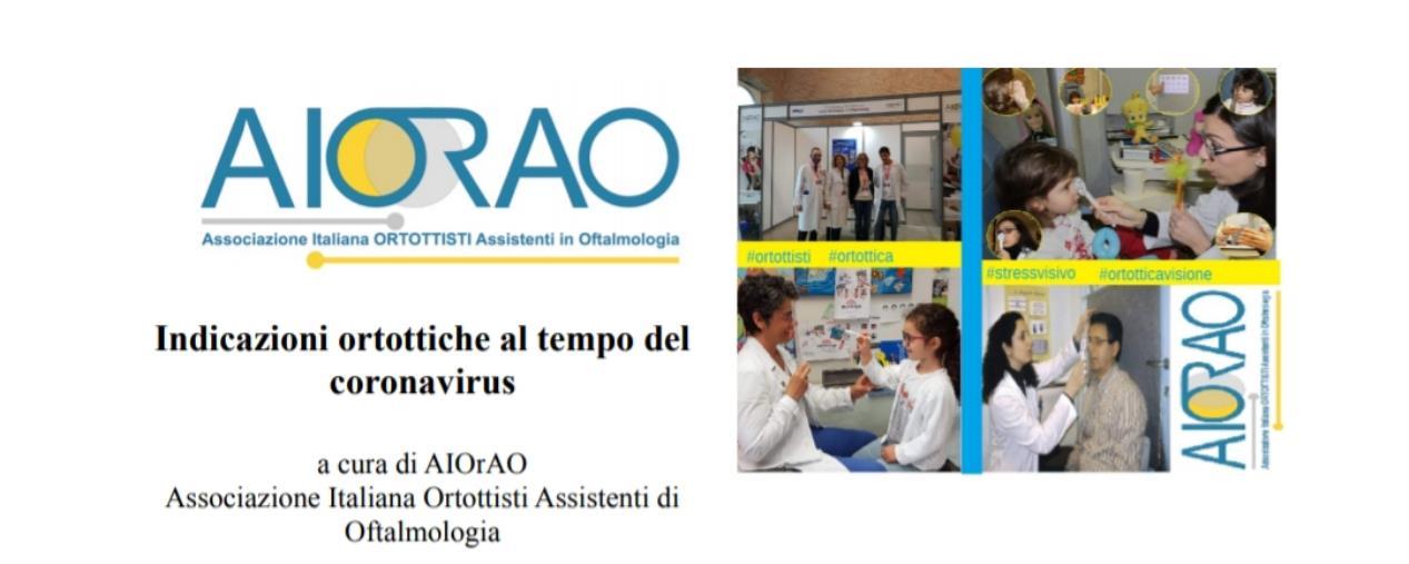 images Coronavirus. La cura degli occhi con le indicazioni dell'associazione Italiana Ortottisti assistenti di Oftalmologia (BROCHURE SCARICABILE IN PDF)