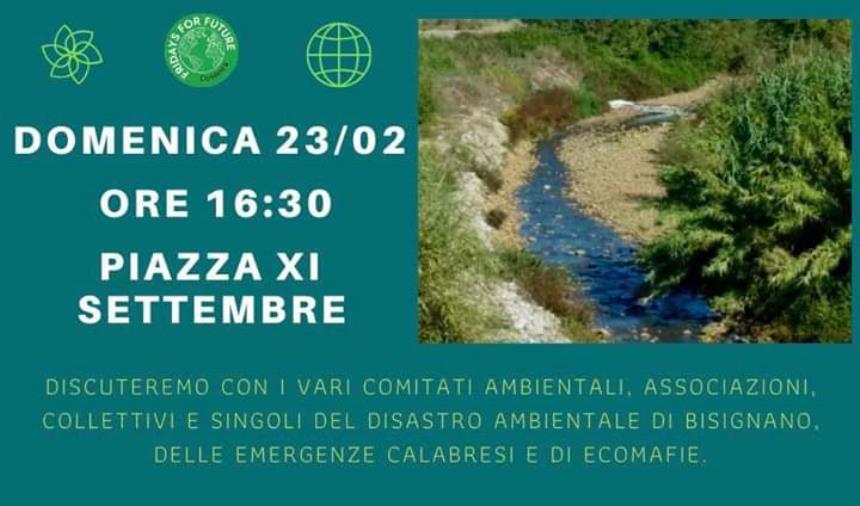 images Ambiente, domenica a Cosenza l'assemblea di Fridays for future sul disastro ambientale di Bisignano