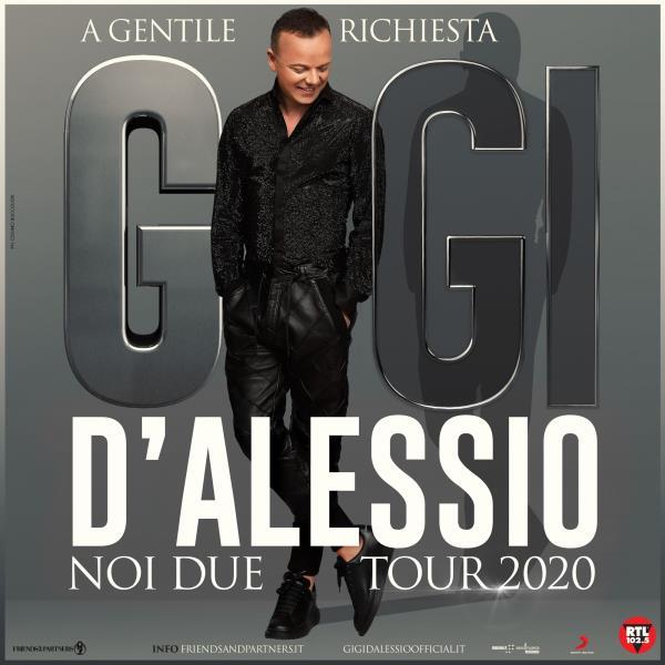 """images MERCOLEDI' 22 APRILE. Gigi D'Alessio al PalaMilone di Crotone con """"Noi due tour 2020"""""""