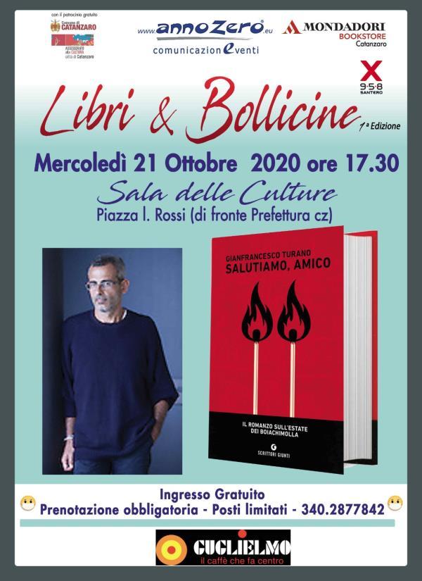 """images """"Libri & bollicine"""", la rassegna continua con Gianfrancesco Turano nella Sala delle Culture di Catanzaro"""