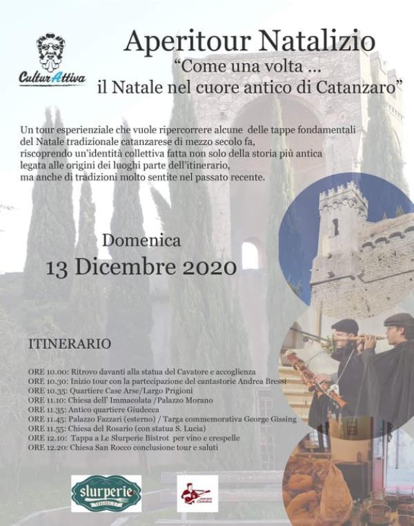 """""""Come una volta … Il Natale nel Cuore Antico di Catanzaro"""". Domenica parte l'aperitour di CulturAttiva"""