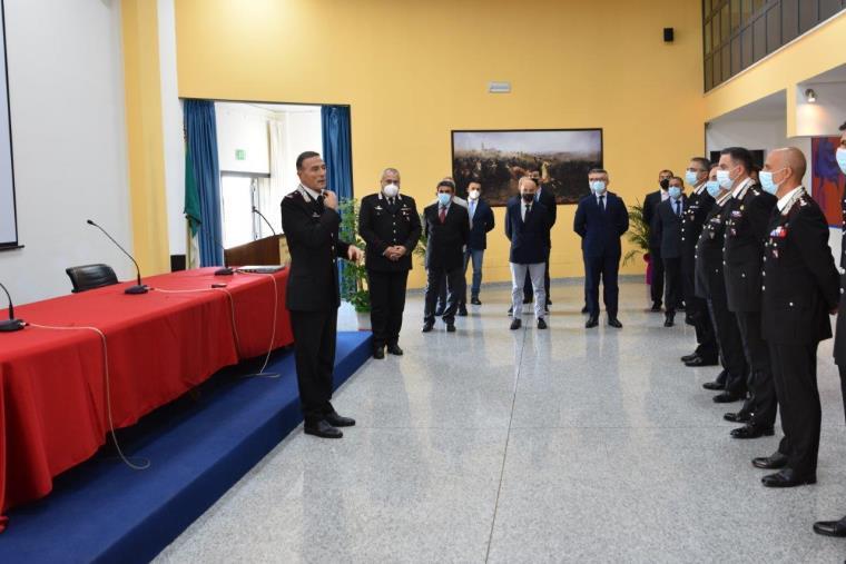 Il Generale di Brigata Andrea Paterna saluta il Comando Provinciale Carabinieri di Catanzaro