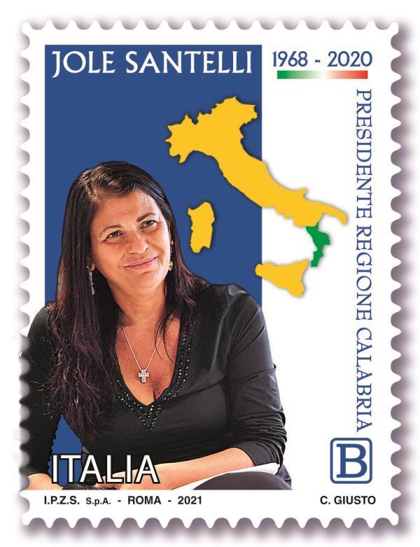 Un anno senza Jole Santelli: emesso un francobollo con la sua foto dal Ministero dello sviluppo economico