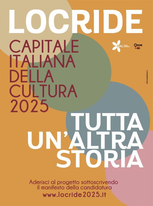 """Locride capitale italiana della cultura 2025: parte la campagna con lo slogan """"Locride. tutta un'altra storia"""""""