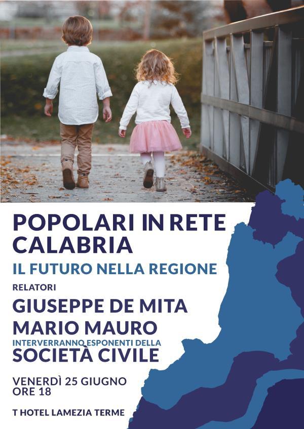 Venerdì al T Hotel di Lamezia Terme la presentazione dei Popolari in rete
