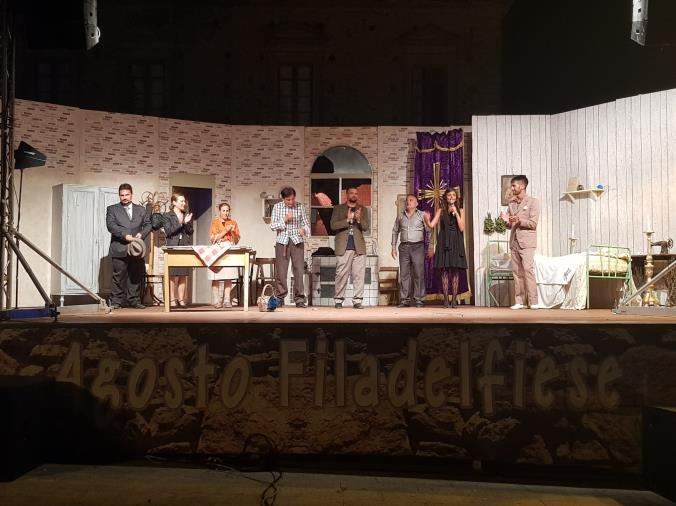 Agosto Filadelfiese. Teatro, Sul palco anche la compagnia lametina Vercillo