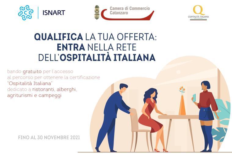 """""""Ospitalità Italiana"""", il marchio di Camera di commercio e Isnart per certificare la qualità dell'offerta ai turisti in provincia di Catanzaro"""