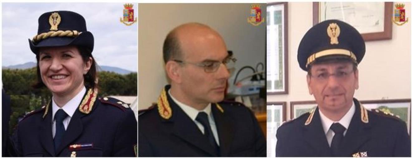 Catanzaro. Promossi 3 Funzionari in Questura e nella Polizia di Frontiera Aerea