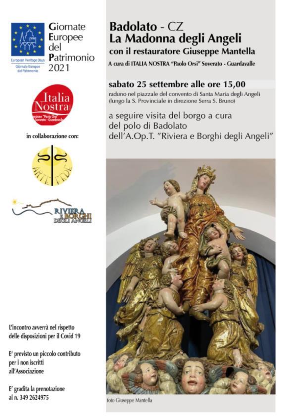 Giornate europee del patrimonio 2021: il 25 settembre a Badolato incontro con il restauratore Giuseppe Mantella